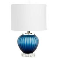 Cyan Design 09291 Halden 22 inch 100 watt Blue Table Lamp Portable Light