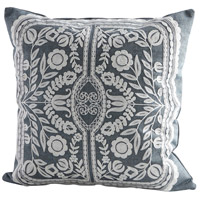 Cyan Design 09317 Puebla 18 X 18 inch Blue and White Pillow