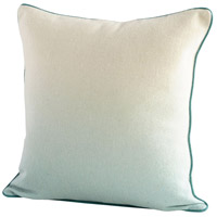Cyan Design 09323 Gradient 18 X 18 inch Blue and White Pillow