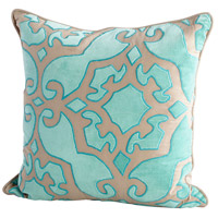 Cyan Design 09397 Plush Jester 18 X 18 inch Turquoise Pillow