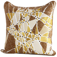 Cyan Design 09421 Cavallini 18 X 18 inch Brown and Bronze Pillow