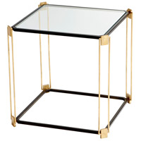 Velasco 22 X 22 inch Gold Leaf and Bronze Side Table