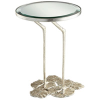 Struz 17 inch Silver Leaf Side Table
