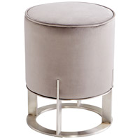 Mr Winston 19 inch Brushed Stainless Steel Ottoman