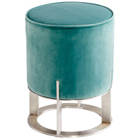 Opal Throne 19 inch Brushed Stainless Steel Ottoman