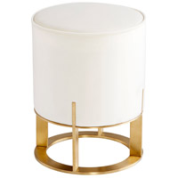 Opal Throne 19 inch Brushed Brass Ottoman