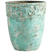 Rome Antique Green Planter, Small