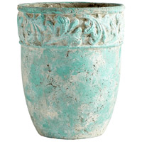 Rome Antique Green Planter, Large
