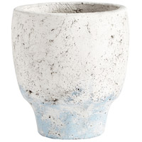Venice Antique White Blue Accents Planter, Small