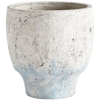 Venice Antique White Blue Accents Planter, Medium