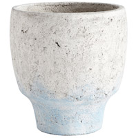 Venice Antique White Blue Accents Planter, Large
