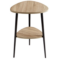 Moon Shot 18 X 18 inch Oak Veneer and Black Side Table Home Decor
