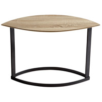 Lunare 31 X 14 inch Oak Veneer and Black Coffee Table Home Decor