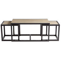 Melies 24 X 24 inch Oak Veneer and Black Ash Veneer Nesting Tables Home Decor