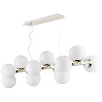 Atom 12 Light 16 inch Polished Nickel Pendant Ceiling Light