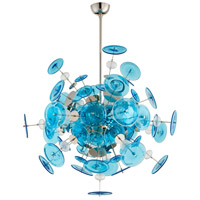 Cyan Design 09680 Avi 14 Light 35 inch Polished Nickel Pendant Ceiling Light