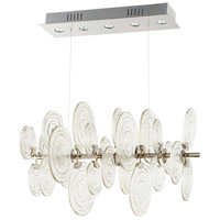 Discus 5 Light 23 inch Polished Nickel Pendant Ceiling Light