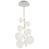 Discus 6 Light 25 inch Polished Nickel Pendant Ceiling Light