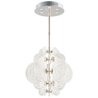 Discus 6 Light 27 inch Polished Nickel Pendant Ceiling Light