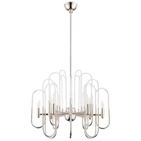 Champ-Elysees 12 Light 16 inch Polished Nickel Chandelier Ceiling Light