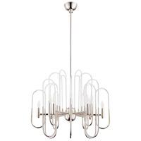 Cyan Design 09688 Champ-elysees 12 Light 16 inch Polished Nickel Chandelier Ceiling Light
