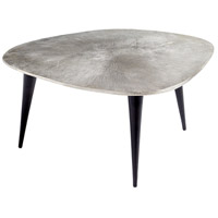 Triata 34 X 32 inch Raw Nickel and Bronze Coffee Table