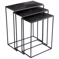 Kala 26 X 21 inch Bronze and Black Nesting Tables, Set of 3