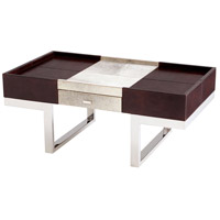 Cyan Design 09754 Curtis 43 X 24 inch Stainless Steel and Brown Coffee Table