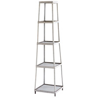 Calabasas 71 X 18 inch Galvanized Metal and Brown Etagere