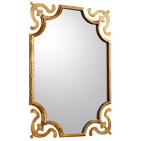 Abri 35 X 25 inch Brass Wall Mirror