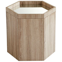 Honeycomb 18 X 18 inch Oak Veneer Tray Table, Medium