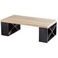 Cyan Design 09891 Lemland 47 X 24 inch Oak Veneer and Black Veneer Coffee Table