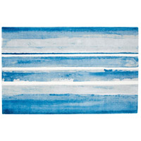 Azure Watercolor 96 X 60 inch Multi Colored Blue Rug, 5ft x 8ft