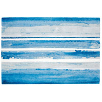 Azure Watercolor 108 X 72 inch Multi Colored Blue Rug, 6ft x 9ft