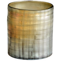 Gilded Grid 8 inch Vase, Small