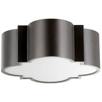 Wyatt 2 Light 16 inch Noir Flush Mount Ceiling Light