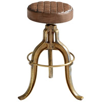 Abbey 24 inch Aged Brass Stool