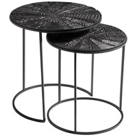 Cyan Design 10090 Quantum 19 inch Bronze and Black Nesting Tables, Set of 2