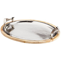 Cornet Natural and Polished Nickel Tray