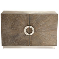 Cyan Design 10227 Volonte Weathered Oak and Stainless Steel Cabinet