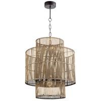 Cyan Design 10273 Hammond 1 Light 19 inch Rattan Pendant Ceiling Light