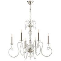 Cyan Design 10364 Spectre 6 Light 34 inch Satin Nickel Chandelier Ceiling Light
