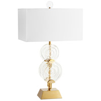 Cyan Design 10373 Discus 38 inch 60 watt Aged Brass Table Lamp Portable Light