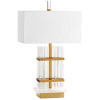 Cyan Design 10374 Niemeyer 35 inch 60.00 watt Aged Brass Table Lamp Portable Light
