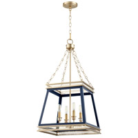 Cyan Design 10904 Gerard 4 Light 16 inch Blue And Aged Brass Pendant Ceiling Light