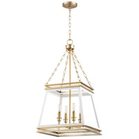 Cyan Design 10905 Gerard 4 Light 16 inch White And Aged Brass Pendant Ceiling Light