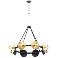 Cyan Design 10980 Artemis 8 Light 32 inch Noir and Gold Leaf Chandelier Ceiling Light