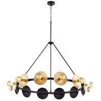 Cyan Design 10981 Artemis 12 Light 43 inch Noir and Gold Leaf Chandelier Ceiling Light