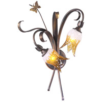 Papillion 2 Light 15 inch Venetian Iron Wall Bracket Wall Light
