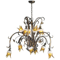 Papillion 12 Light 41 inch Venetian Iron Chandelier Ceiling Light